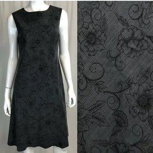 Tommy Bahama Silk Floral Plaid Keyhole Tank Dress